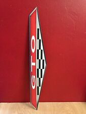 LARGE 2 FEET PONTIAC GTO EMBLEM EMBOSSED METAL SALES DEALER SHOP DISPLAY SIGNN