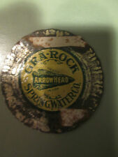 c1915 Arrowhead Spring Water Co Canton CT Gra-Rock Bottle Cap Connecticut medal
