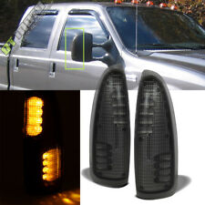 2003-2007 Ford F250/F350/F450 Super Duty Tow Mirror LED Turn Lights SMOKE Lens