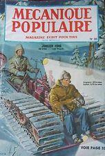 REVUE MECANIQUE POPULAIRE N° 020 QG MARINE MISSISSIPI PRESTIDIGITATEUR 1948