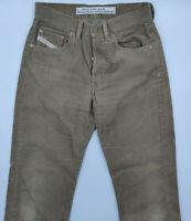 Diesel Cheyenne W29 L30 braun Cord Designer Italien Herren Designer Jeans Hose