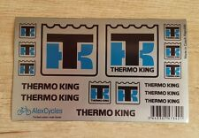 THERMO KING Tamiya 56319 14th Scale 1/14 Reefer Trailer Silver Decals Stickers