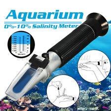 0~10% Salinity Refractometer Meter Water Marine Salt Tank Aquarium Tester Test