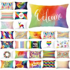 Rectangle Pillow Cover Cushion Case Geometric Color Elk Waist Sofa  Home Decor