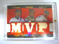 Mantle/Ichiro/Bonds 2006 Topps Triple Threads 7/18 1/1