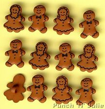 GINGERBREAD PEOPLE - Girl Boy Man Men Christmas Cookie Dress It Up Craft Buttons