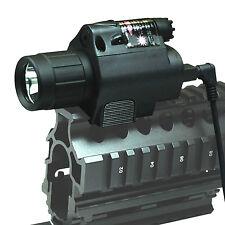 Tactical Red Laser Sight & CREE LED Flash Light Combo - rifle shotgun 20mm Rail