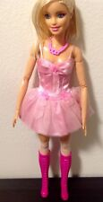 Barbie Clothes: Ballet Style Mini Dress, Necklace, Thigh High Stockings & Boots