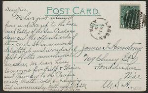 Canada Postcard: 1913 POSTMARK - LAGGAN, AB - ⭐POST OFFICE CLOSED 1914 - ph168