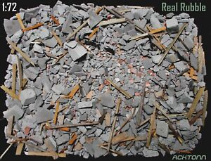 1:72 Diorama Rubble Set Military Model Display Accessories RB-72