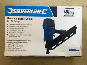 Silverline Air Framing Nailer 90mm 10 - 12 Gauge