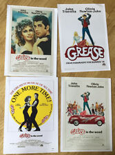 Four A4 Photos Of Grease Movie Posters