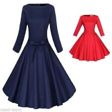Retro 3/4 Sleeve Plus Size Dresses for Women