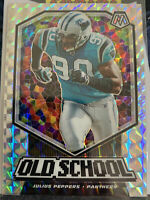 2020 Panini Mosaic Julius Peppers Panthers Old School Silver Prizm FREE SHIPPING