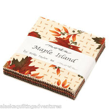 """Moda FABRIC Charm Pack ~ MAPLE ISLAND ~ by Holly Taylor  - 5"""" squares"""