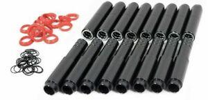 BLACK ANODIZED ALUMINUM - MST PUSH ROD TUBES X8 - VW BUG BUGGY GHIA THING TRIKE
