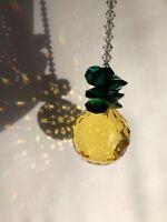 Crystal pineapple suncatcher m/w 30mm Swarovski 8550 full lead crystal ball