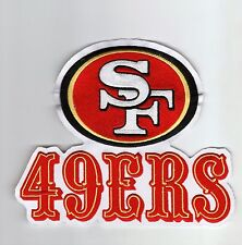 HUGE San Francisco 49ers 7 inch x 6 inch Throwback Old Logo PATCH iron or sew on