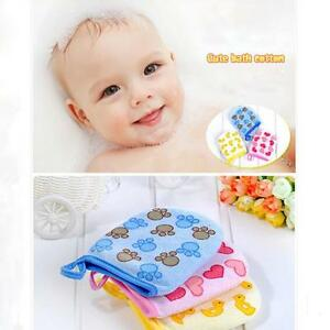 Lovely Cartoon Baby Kids Bath Gloves Rubbing Sponge Soft Cloth Towel Ball KY