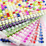 Pearl Stickers Self Adhesive Strip Acrylic Half Round Flat Back 6mm Card Craft