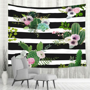 Stripes and cactus Tapestry for Bedroom Living Room Dorm Decor