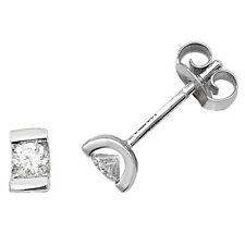 diamante solitario Orecchini oro bianco a pressione Set 0.25ctw valutazione