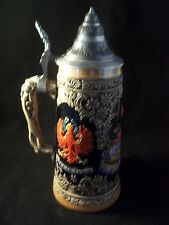 Original House Of Tyrol Pewter Top Beer Stein Limited edition
