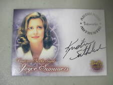 Buffy Tvs - Wos - Kristine Sutherland As Joyce Summers Autograph Card A4 - Bv$60