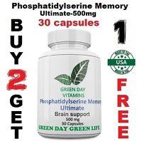 Phosphatidylserine Memory Ultimate 500mg Brain Health  Phosphatid Made in USA