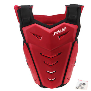 PULSE RENEGADE RED MOTOCROSS MX ENDURO BMX MOUNTAIN BIKE CHEST BACK PROTECTOR