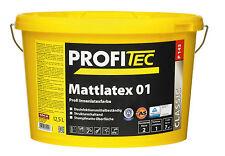 ProfiTec Mattlatex P143 Stumpfmatt Latex Innenfarbe 5l im Wunschfarbton ca. 34qm