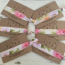 Baby Shower Hair Ties Bracelet Favour On A Thank You Card