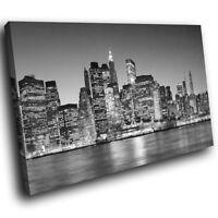 SC007 New York City Black White  Landscape Canvas Wall Art Large Picture Prints
