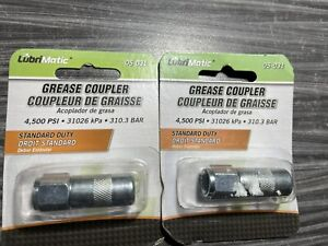 2 pc lot of Plews LubriMatic 05-031 1/8-Inch Grease Gun Coupler