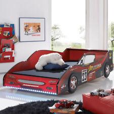 Rennwagenbett Meteor Kinderbett Jugendbett in rot Hochglanz mit Beleuchtung