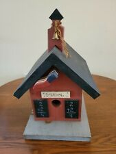 Wooden School House Bird House 14x8.5x11 Inches