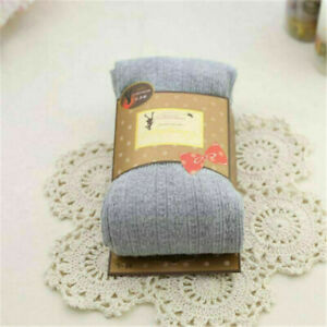 Women Cable Knit Sweater Footed Tights Winter Warmer Stretch Stockings Pantyhose