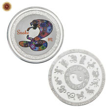 WR Chinese Lunar Year of the Snake SILVER Coin Mint 12 Animal Zodiac Lucky Gifts