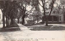 D37/ Lemars Iowa Ia Real Photo RPPC Postcard c1920 Home South Main Street