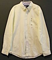 Tommy Hilfiger Mens Yellow White Checks Button-Front Shirt NWT $59 Size 2XL XXL