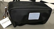 Coach Leatherware Weekend Travel Cosmetic Bag NEW Black Nylon MSRP $68