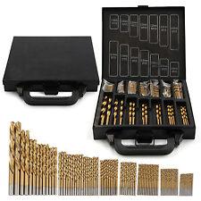 TITANIUM Coated HSS Drill Bit Set 99 PC PEZZO E CASE PLASTICA LEGNO METALLO KIT