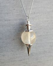 Pendentif pendule en cristal de roche