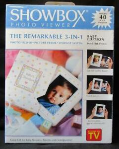 As Seen On TV ~ Showbox Photo Viewer ~ Baby Edition ~ Holds 40 4x6 Photos ~ NISP