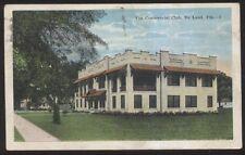 Postcard De LAND Florida/FL Commercial Club Building view 1910's