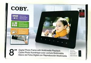 """COBY 8"""" Digital Photo Frame With Multi Media Playback DP870  Complete"""