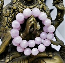 "NATURAL CAT'S EYE PINK KUNZITE 7mm ROUND BEADS STRETCH BRACELET 7.5"" AAA"