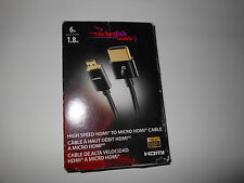 Rocketfish 1.8 m  (6  ft.) HDMI to Micro HDMI High Speed Cable RF-GM40612 - T