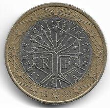 Moneta Rara 1 Euro 1999 Francia