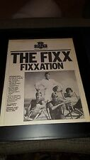 The Fixx Rare Original Fixxation Nbc Source Concert Radio Promo Poster Ad Framed